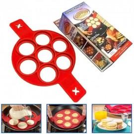 Форма для оладий, блинов, яиц, омлетов силиконовая красная Flippin' fantastic 40 х 23 х 1,5 см