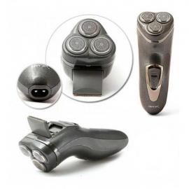 Электробритва аккумуляторная мужская триммер 3 в 1 роторная мужская бритва Gemei GM-7500
