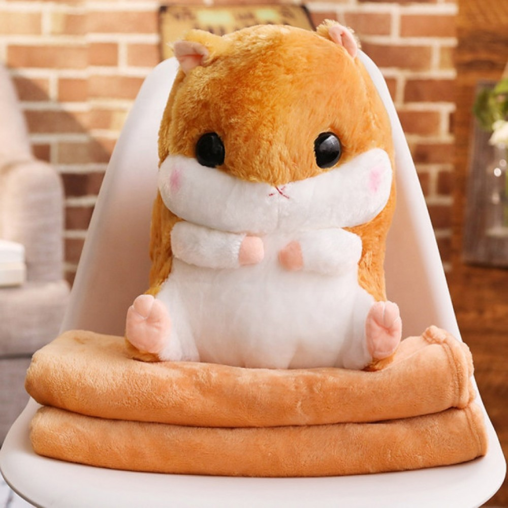 Плед Хомяк 3 в 1 мягкая игрушка подушка
