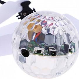 Летающий шар прозрачный светящийся