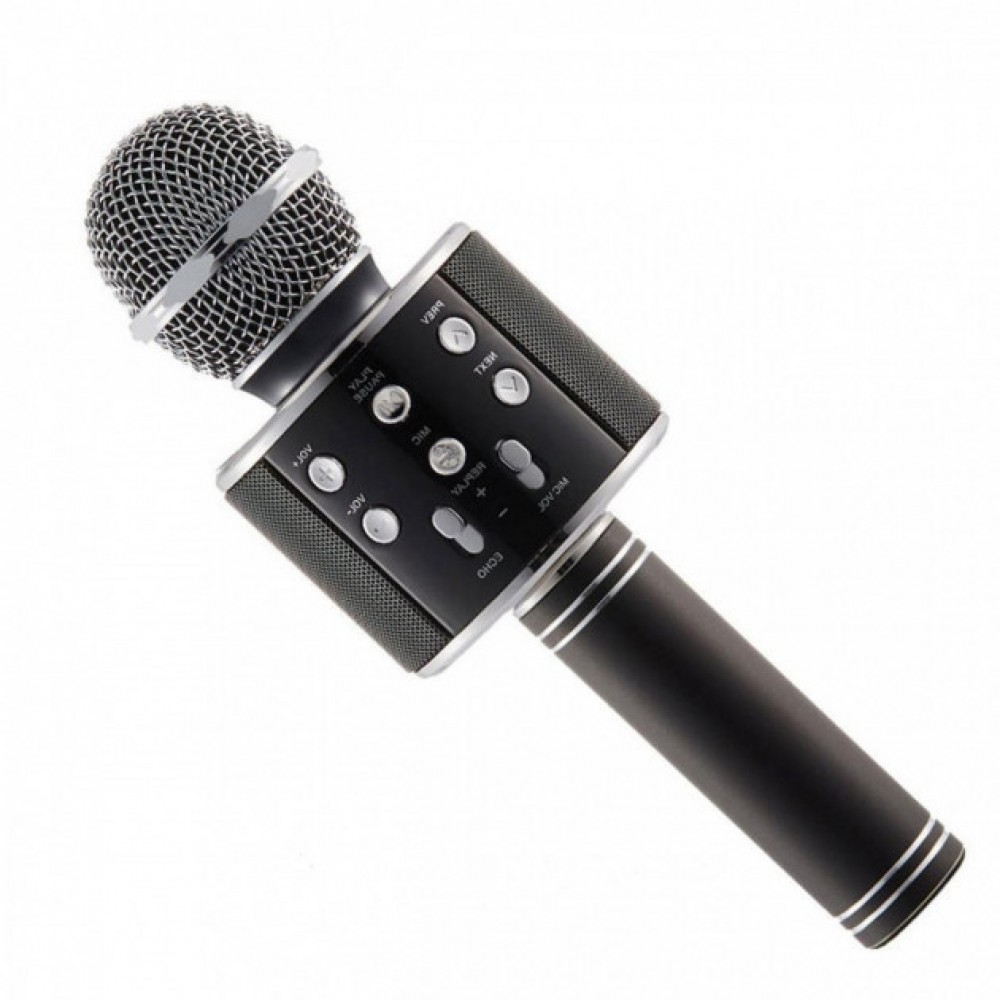 Беспроводной караоке Bluetooth микрофон с динамиком в коробке WS-858