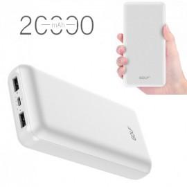 Внешний аккумулятор Power Bank для телефона смартфона Golf 20000mAh (разные цвета)