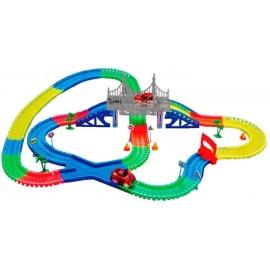 Детская игрушечная дорога Supretto Magic Tracks 360 деталей + 2 машинки Mega Set