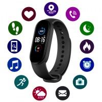 Фитнес браслет Smart Bracelet M5 Black с измерением давления и пульса