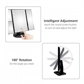 Зеркало для макияжа с LED подсветкой трёхстворчатое Magic Makeup Mirror