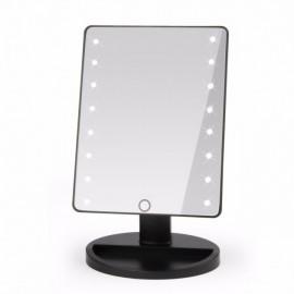Косметическое зеркало для макияжа с подсветкой Large LED Mirror Черный