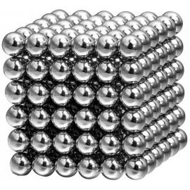 Магнитный конструктор Неокуб игрушка антистресс в боксе 216 магнитных шариков 5 мм Серебристый