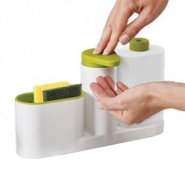 Органайзер для кухонной раковины Sink Tidy Sey 3 в 1 (дозатор жидкого мыла, подставка для кухни под мочалки)