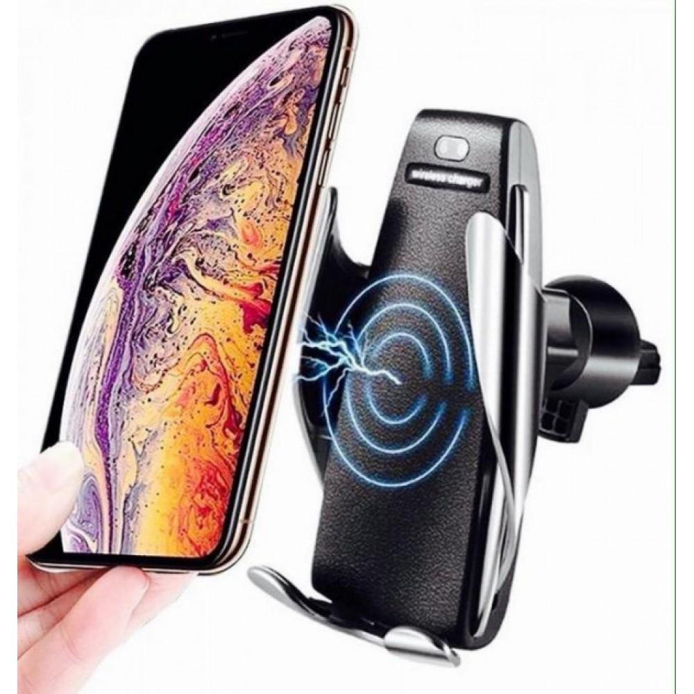 Автомобильный держатель сенсорный с функцией беспроводной зарядки универсальный для телефона смартфона Smart Sensor