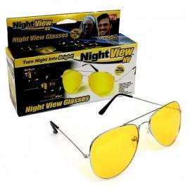 Очки антифары для ночного вождения антибликовые авиаторы Night View Glasses