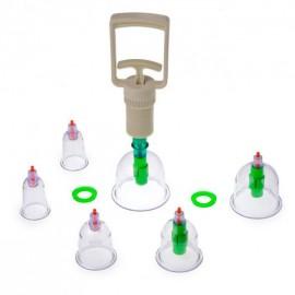 Вакуумные антицеллюлитные банки для массажа 6 штук