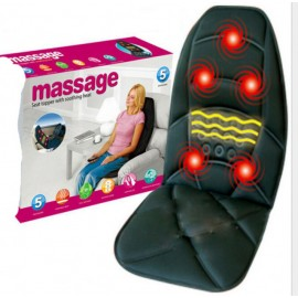 Массажная накидка на кресло Massage Seat Topper 5 вибрационная с пультом управления для дома и автомобиля